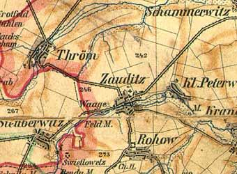 Mapa z roku 1890