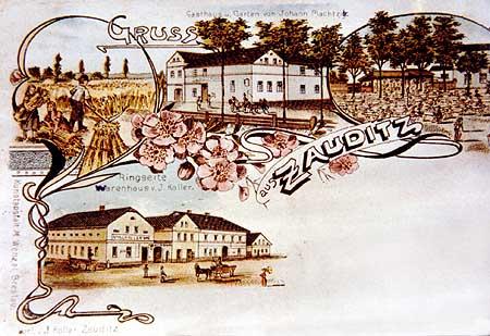 Pohlednice z roku asi 1900